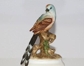 Vintage Lefton Flycatcher Porcelain Figurine KW1184