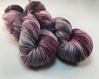 Smoky plum - 20/60/20 - alpaca, Superwash Merino wool and nylon
