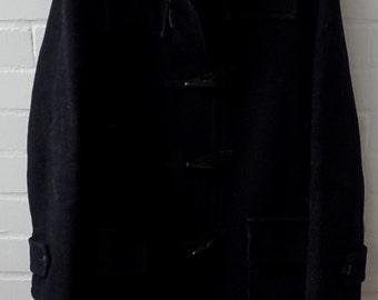 Vintage 1960s Men's Navy Duffle Coat UK 38