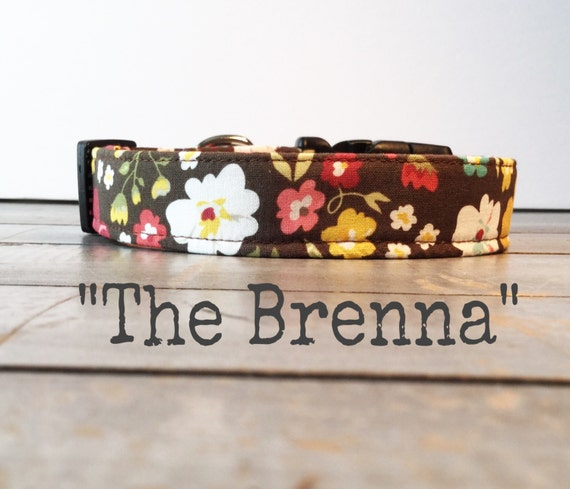 Pretty DOG COLLAR, Made to Order, Dog Collar for Girls, Floral Dog Collar