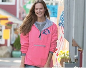 New 5809 Chatham Anorak Solid, Charles River Pull-over, water resistant, jersey lined pull over, 1/2 zip pull over, neon pink, lilac, jacket