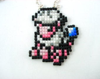 Flaaffy Necklace Pokemon Necklace - Sprite Necklace Pixel Jewelry Pokemon Jewelry Geeky Jewelry Nerdy Gift Video Game Sheep