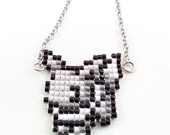 Shiny Eevee Necklace - Pixel Necklace Pokemon Necklace Pixel Jewelry 8-bit Necklace Video Game Necklace Eeveelution necklace