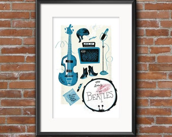 Beatles Tools Poster/Print