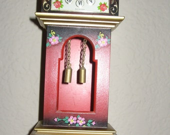 Vintage Florn Grandfather-style Clock West Germany Wind up Missing Key
