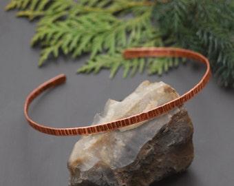 Handmade copper necklace Boho choker Choker necklace Copper anniversary gift Copper gift Holiday jewelry Copper collar necklace Celtic art