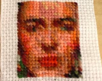 Custome  Needlepoint portrait