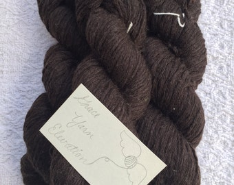 100% Pure Wool Yarn, Reclaimed Yarn, Recycled Yarn, Upcycled Yarn, Economical Yarn, Worsted Weight, Crochet Yarn, Craft Yarn - Dark Brown