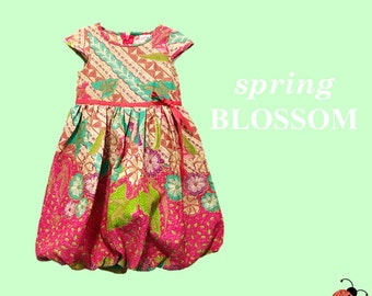 PINK FLORAL ANANDA baby girl clothes, girl dresses, flower girl dresses, toddler girl clothes, kids dresses, baby dress, baby girl dresses