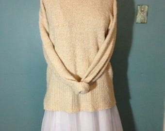off white sweater, nubby sweater, over-sized sweater