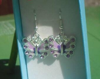 Handmade Pretty Butterfly Earrings