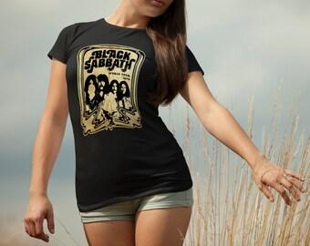 Black Sabbath T-shirt Black Sabbath Tshirt Black Sabbath Women Shirt Black Sabbath Tee Rock T-shirt Model 6