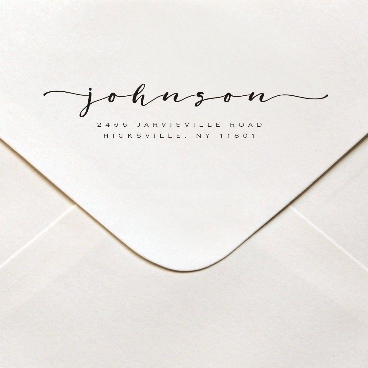 Self Inking Return Address Stamp Calligraphy Wedding Address