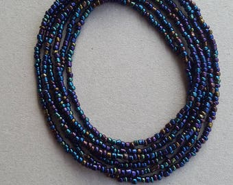 Blue African Waist Bead, African Jewelry, African Fashion, African Waist Bead, Waist Beads
