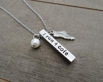 I Run 4 Necklace - IR4 - I Run For Jewelry - Personalized Gift For Running Buddy
