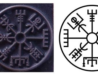 Viking compass Vegvisir inspired printing stamp