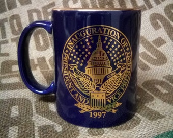 1997 Clinton Gore Inauguration Day Coffee Cup