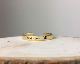 Mimi, Grandma, Nana, Grandmother, Hand Stamped, Hand Stamped Jewelry, Hand Stamped Bracelet