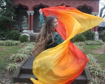 Phoenix's Fire Silk Bellydance Veil Bellydance Costume Veil