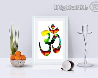 Printable OM art om wall art home decor Spirituality printable art printable quote