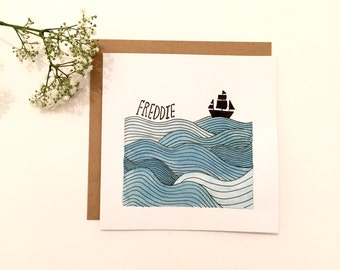Little Boat Personalised Card