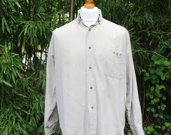 Vintage Long Sleeved Cord Shirt - Size Medium