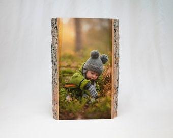 BIRTHDAY GIFT for GRANDMA: Photo Printed on Basswood Slice, Rustic Gift, Photo on Wood, Photo Gift, Photo on Wood, Wood Print, Wood Frame