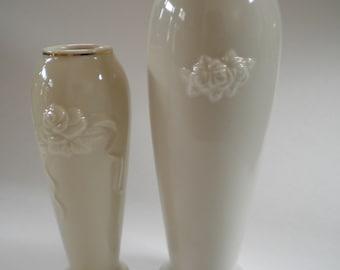 Lenox Rose Blossom Vases (Set of 2)