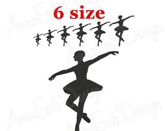 Ballerina Embroidery Design. Ballerina Silhouette. Dancer Embroidery Design. Machine Embroidery Design. Ballet Design. Mini Ballerina Design