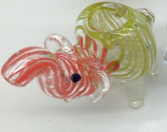 1 Elephant thick smoking bowl multi color..Free pair of socks your choice!!!! S M L