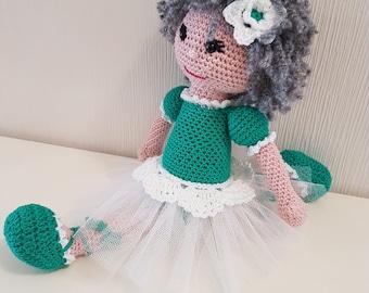 Beautiful Crochet ballerina doll, handmade doll for girls