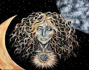 Moon Goddess 9X11