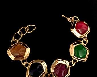 80's Chunky Multi- Colored Bead Bracelet   VG2466
