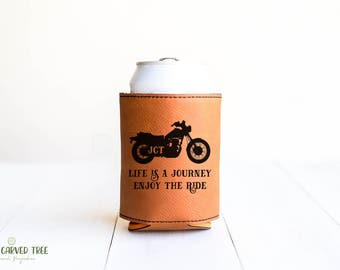 Motorcycle Gift, Can Insulator, Beer Holder, Gift for Biker Cold Drink Cooler, Biker Friends, Ride Quote, Road Journey, Motorcyclist Gift