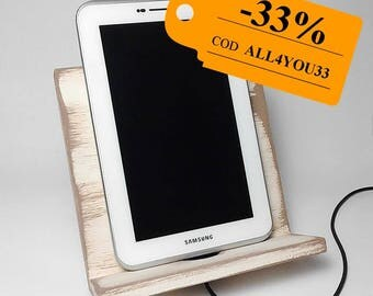 Dock for ipad, 33% off timber, docking tablets, support for ipad, stand rustic tablet