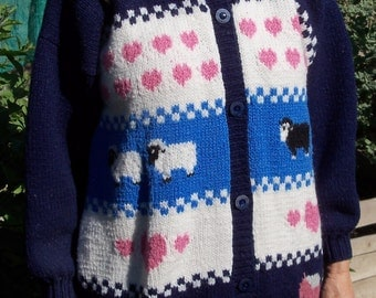 Vintage Country-Style Cardigan