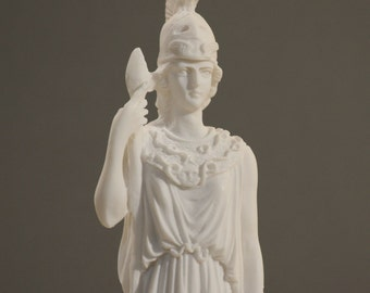 Goddess of Wisdom Athena Minerva Alabaster Statue Figure Handmade 9.8in - 25cm **Free Shipping & Free Tracking Number**
