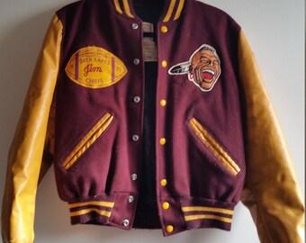 40% OFF SALE - Vintage 1975 Letterman's Jacket - Genuine Leather - Men's S or Women's M/L