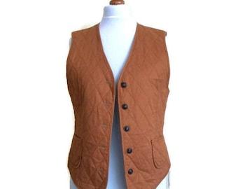 Vintage Vest, Womens vest, Cotton vest, Quilted vest, Size M
