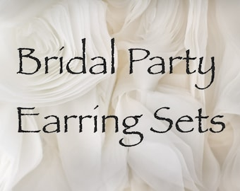 Bridal Party Earring Sets