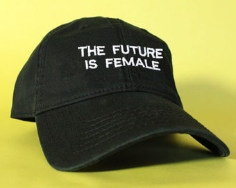The Future Is Female Black Pink White Dad Hat Dad Cap Baseball Hat Baseball Cap Embroidered Strap Back Adjustable Cotton