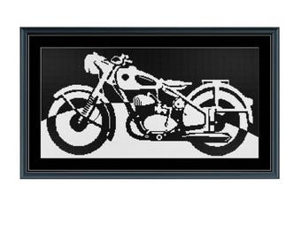 Classic Motorcycle Silhouette