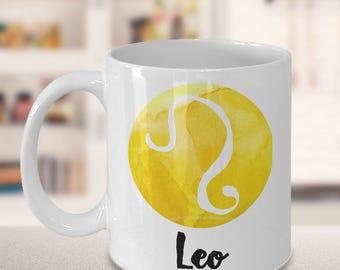 Leo Mug - Leo Gifts - Zodiac Mug - Horoscope Coffee Mug - Birthday Mug - Astrology Gift - Metaphysical, Celestial, Astrology
