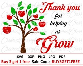 Teacher svg Thank you teacher svg Teacher Appreciation SVG School cut file Apple tree svg Teacher Gift SVG file for cricut Silhouette cameo