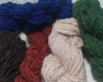Bulky Handspun Wool Yarn (Lot 22)