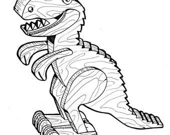 Allosaurus Play Toy #404 -   Woodworking / Craft Pattern