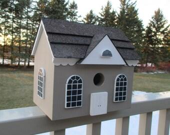 Gingerbread Birdhouse, Cottage Bird House, Country Birdhouse, Handmade Birdhouse, Outdoor Wood Birdhouse,  Unique Birdhouse, Cute Birdhouse