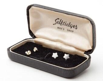 Silver Star Charm Stud Earrings