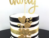 Cake topper | Foil | Glitter | Birthday | Thirty | 30