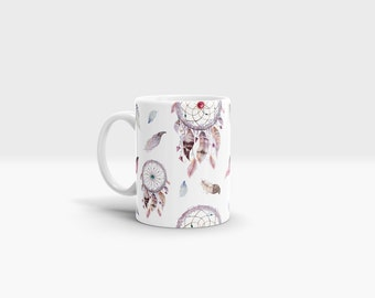 Dreamcatcher Mug. 11oz Ceramic Mug.